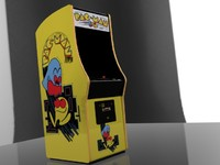 pacman arcade machine 3d max