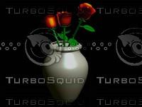 free roses vase 3d model