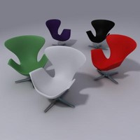 3d arne jakobsen chair model