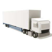 delivery truck 3d obj