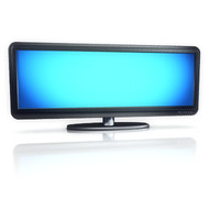 3ds max wide screen plasma television