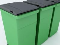trashcan trash 3d max