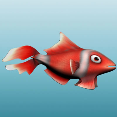 fish aquarium 3d model - Aquarium and Fish... by BARAKA