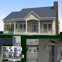 3d interior exterior house model