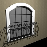 ARCH WINDOW WITH WROUGHT IRON.dxf