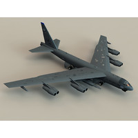 b52 stratofortress bomber b-52 aircraft 3d model