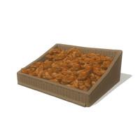 3d croissant basket model