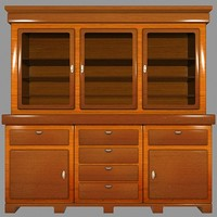 cabinet hall 3d 3ds