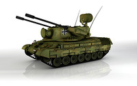 german tank gepard 3d model