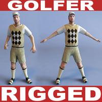 3d golfer rigged