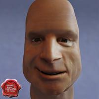 John McCain Head