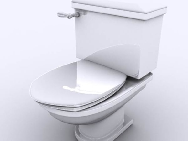 toilet 3d 3ds - Lavatory... by GameReadyModels