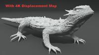 3d horned lizard model