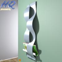 3d model magazine rack 00
