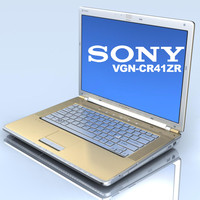 notebook sony vaio vgn-cr41zr 3d c4d