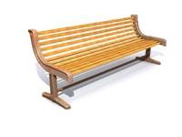 3d model seaside park bench