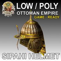 sipahi helmet ottoman army 3d model