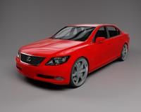 3d lexus ls 460 car