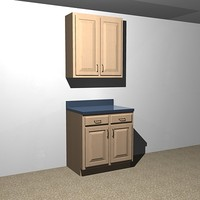 kitchen cabinets - 33 3d model