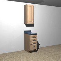 kitchen cabinets - 15 dxf