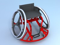 3d wheelchair sports model