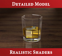 whisky glass 3d 3ds