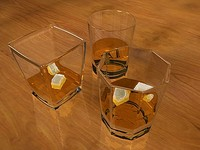 3ds max whisky glasses ice 3