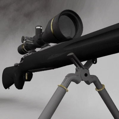 3dsmax x-bolt rifle bolt action - X-Bolt Rifle gun... by KG animation