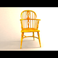 english windsor chair yeoman 3d model