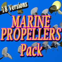 3d propeller assortment pack model