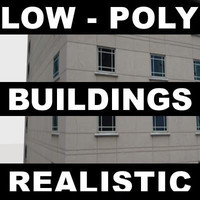 3d pack low-poly buildings model
