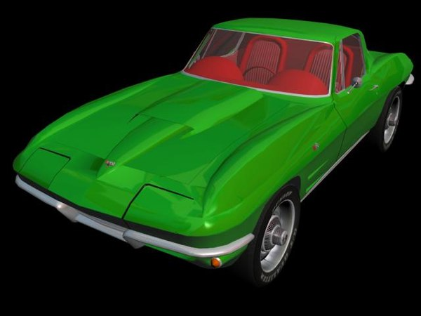 3d chevrolet corvette 64 - Chevrolet Corvette Stingray 64... by fled