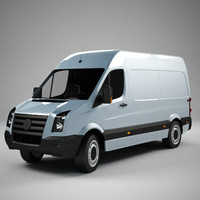 generic european van 3d model