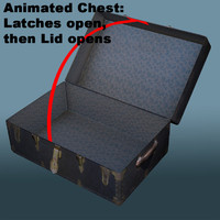 chest opening animation 3d model