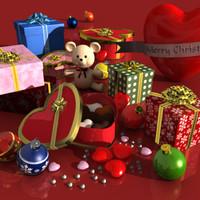 3ds max gift scene