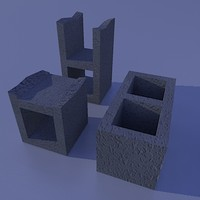 cinder blocks 3d model