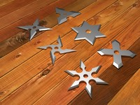 3d shuriken throwing stars model
