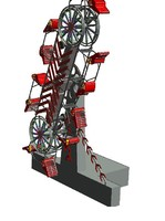 zipper thrill ride 3d dwg