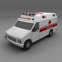 ambulance van 3d model