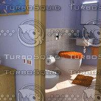 3d bathroom fur