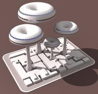 3d model future building 03