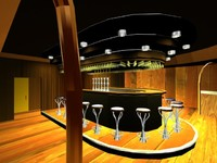 3d model of bar interior