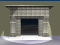 marble fireplace 3d dxf