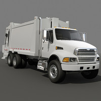 Garbage truck rear loader 02