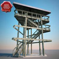 3dsmax guard tower v2