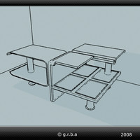 3d model coffeetable table