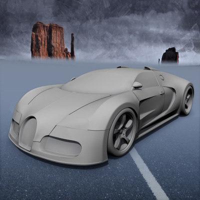 3d model bugatti veyron 2004 concept. Black Bedroom Furniture Sets. Home Design Ideas