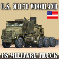 US MILITARY TRUCK–OSHKOSH M1070 HETS WOODLAND