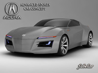 3ds max acura advanced sports car