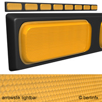 3d model arrowstik lightbar light